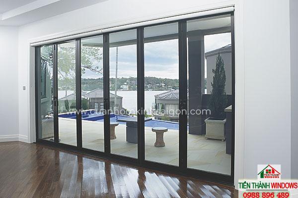 Cửa nhôm kính cao cấp có độ bền và độ thẩm mỹ khá cao